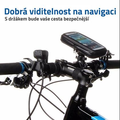 Držák na navigaci na kolo