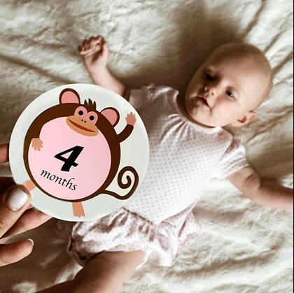 Těhotenské milníkové kartičky