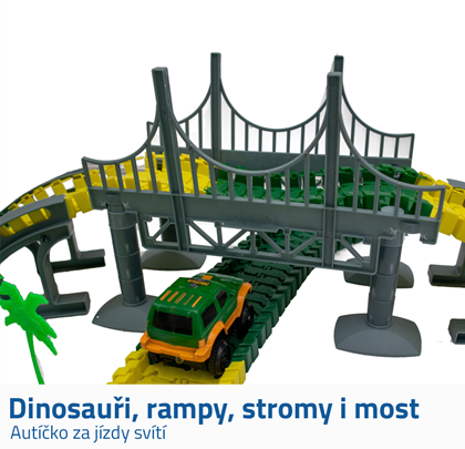 Autodráha s dinosaury