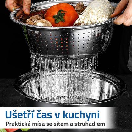 Sítko, miska a struhadlo do kuchyně