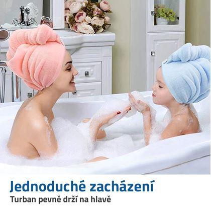 ručník turban na mokré vlasy