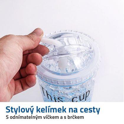 plastový kelímek s víčkem