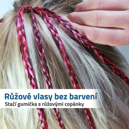 Umělé vlasy s copánkem