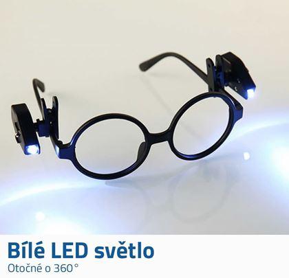 Světlo na brýle