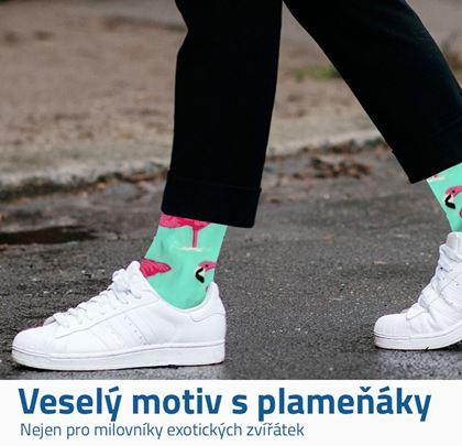 Veselé ponožky plameňáci