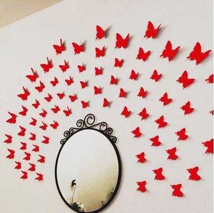 Samolepící motýlci 3D