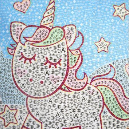 Obrázek z Diamantové malování pro děti - jednorožec malý